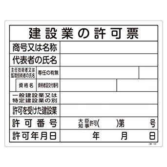 建設業許可取得後の標識と帳簿